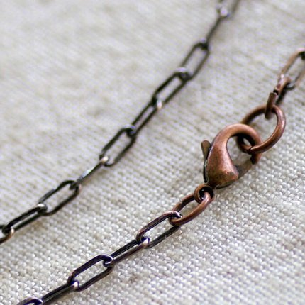 Antique Copper Plated Brass Cable Chain Blank Chain Necklace cn124a 30""