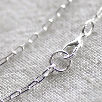 Sterling Silver Plated Brass Blank Necklace Silver Cable Chains Necklace cn130 30""