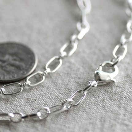 Sterling Silver Plated Filigree Blank Necklace Cable Chain cn239s-30