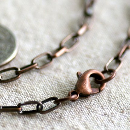 """Antique Copper Metal Chain Blank Necklace Cable Chain cn145 30"""""""