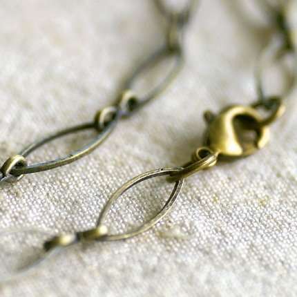 """Antique Bronze Plated Metal Blank Necklace Eight Figure Chain cn169 30"""""""