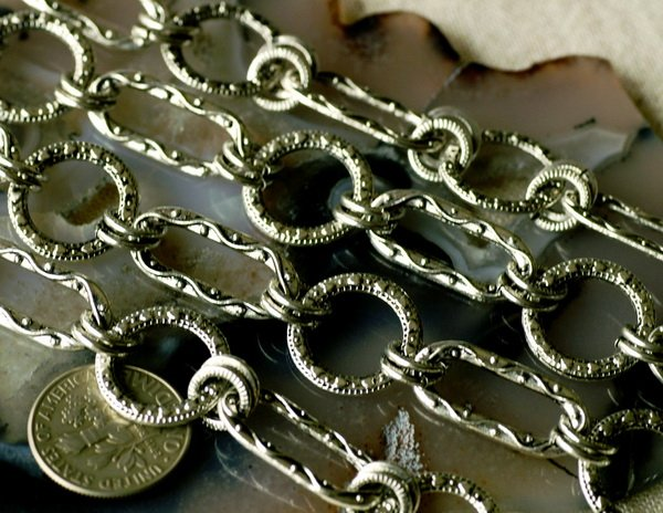 2ft Tibetan Silver Filigree Chains For Necklace Antique Silver Plated h06b