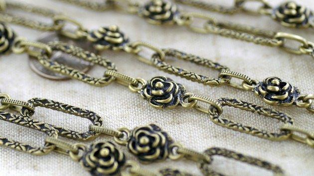 6ft Antique Bronze Plated Tibetan Silver Fancy Chains Necklace h137c