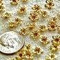 150pcs Solid Brass Filigree Flower Shaped Beadcaps 6.5mm bf20