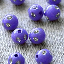 400pcs Lilac/violet Flower Point Sparkling Plastic Ball Round Beads 8mm p096