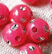 Roseate Flower Point Sparkling Plastic Ball Round Beads 8mm p101 (400pcs)