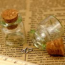 4pcs Clear Glass Bottles Vials Charms Pendants 22x25mm with Cork and Silver Eyehook GB06