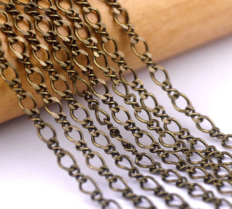 Antique Bronze Chain Link Brass Chains For Necklace 3.5x2.5mm c103(4ft)