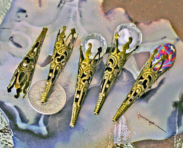 20pcs Antique Bronze Bead Cap Filigree Trumpet Cone Bead Caps bc35b