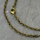 """1pc Antique Bronze Link Cable Chain Necklace Blank Necklace 3.2mm cn216-18"""""""