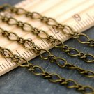 Antique Bronze Plated Vintaged Classic Link Chain 4mm c201b(12ft)