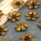 20pcs Oxidized Vintaged Brass Filigree Flower Charms Pendant 16mm bf15a