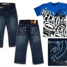 Ecko Youth 'All-Over Logo' Jean Set