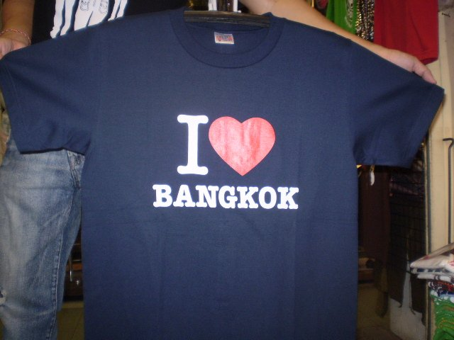 Cool T-Shirts I Love Bangkok logo shirt