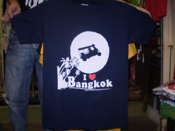 Cool T-Shirts I Love Bangkok logo shirt