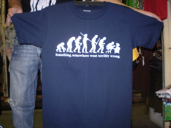 Funny T-Shirts Evolution logo shirt