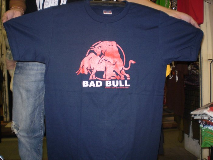 Funny T-Shirts Bad Bull logo shirt