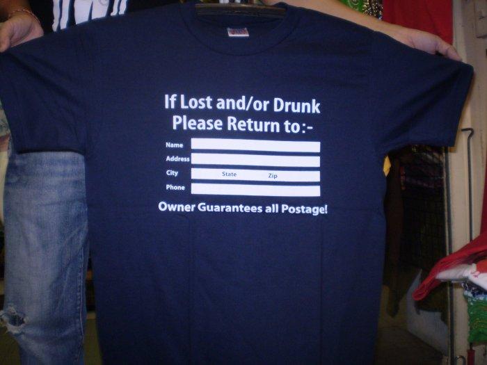 Funny T-Shirts Please Return logo shirt