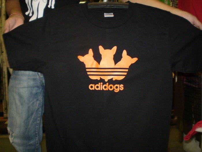 Funny T-Shirts Adidogs logo shirt
