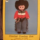 Doll Pattern Cowboy Dirk Crochet  Td Creations  FREE SHIPPING