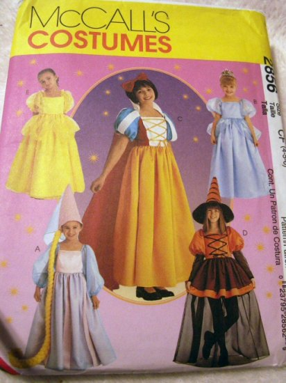 Disney Princess Costumes Pattern M2856 - FREE SHIPPING