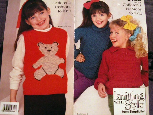 Knitting with Style  Simplicity 0468 Free Shipping