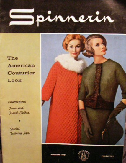 Town & Travel Spinnerin #160 Knit Patterns Book Vintage -FREE SHIP