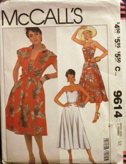 Misses' Dress & Cover Up Pattern - FREE SHIPPING