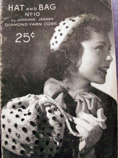 Hat and Bag No. 10 by Johanne Jensen Vintage Crochet