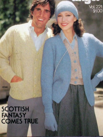 Scottish Fantasy Comes True  Knit Sweaters Patterns  FREE SHIPPING
