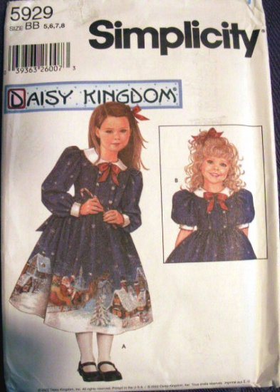 Daisy Kingdom Dress With Doll Dress Pattern S 5929 - FREE SHIPPING