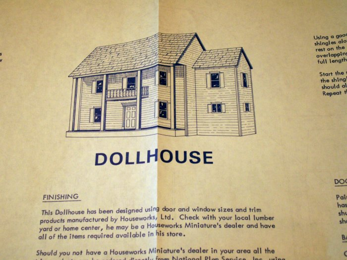 National Plan Service, Inc Doll House Design No. B2038