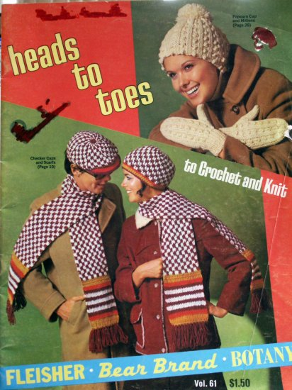 Heads To Toes  Knitting & Crochet Pattern Book - Cool Women's Hats!