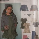 Girls Dress, Top, Jacket, Skirt, Pants & Scarf pattern - FREE SHIPPING