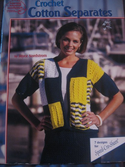Crochet Cotton Separates - 7 designs for Speed-Cro-Sheen  ALWAYS FREE SHIPPING