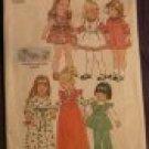 Easter Easy Girls Dress & Pinafore Toddler size 2  Vintage pattern FREE SHIPPING