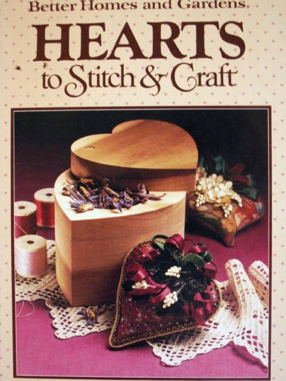 Hearts To Stitch & Craft book Quilts, Cradle, Rug - FREE SHIPPING