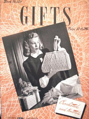 Vintage 1945 GIFTS crocheted & knitted pattern booklet - FREE SHIPPING