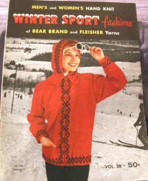 1956 Men's & Women's Hand Knit Winter Sport Fashions  GORGEOUS - FREE SHIPPING