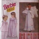 "Barbie and You!  Girls & 11.5"" doll matching night gowns and tiny bears patterns  FREE SHIPPING"