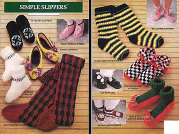 Simple Slippers by Elsie Caddey Annie's Attic - Free Shipping