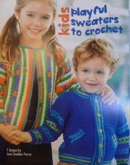 7 Kids Playful Sweaters to Crochet Pattern Book - FREE SHIPPING
