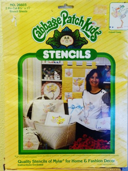 Vintage ~ Cabbage Patch Kids Stencils No. 26603 - FREE SHIPPING