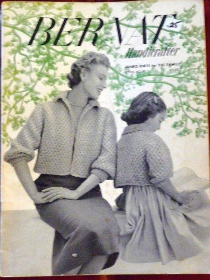 Bernat Book No. 41 Jumbo Knits For The Family 1954 - FREE SHIPPING