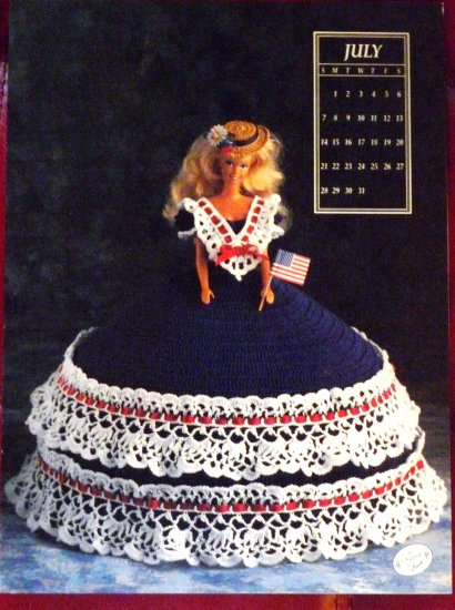 Annie's Calendar Bed Doll Society 1991 Collector's Series July Barbie FREE SHIPPING