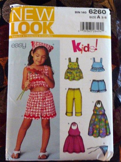 Girls Size 3-8 Summer Dress, Shorts, Top, Scarf Pattern - FREE SHIPPING