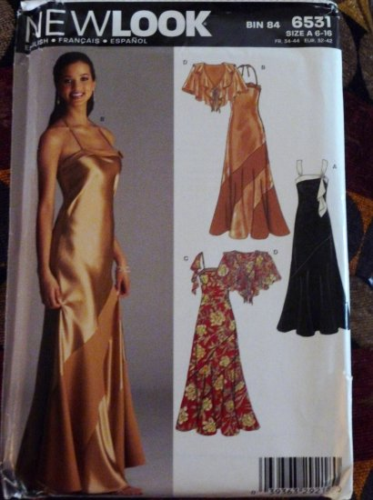 Misses Size 6-16 Long Gown & Shawl - FREE SHIPPING