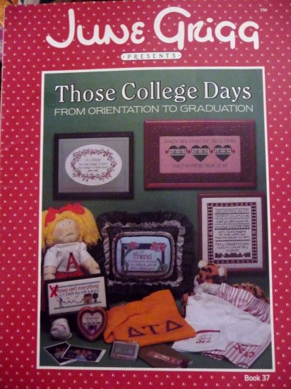 Cross Stitch Those College Days chart book - FREE SHIPPING