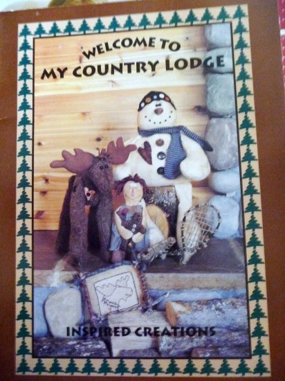 Country Lodge Moose Snowman Bear Dolls Pattern Book - FREE SHIPPING