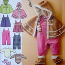 Babies Poncho, Booties, Jumper Pattern S 4054 - FREE SHIPPING